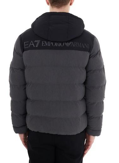 EA7 Emporio Armani  Kapüşonlu Cepli Şişme Mont Erkek Mont 6Hpb50 Pn1Bz 3925 Antrasit
